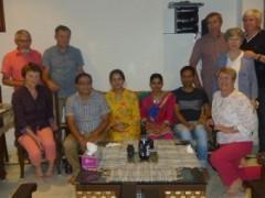Groupe Mme BENESTEAU durant leur voyage en Inde
