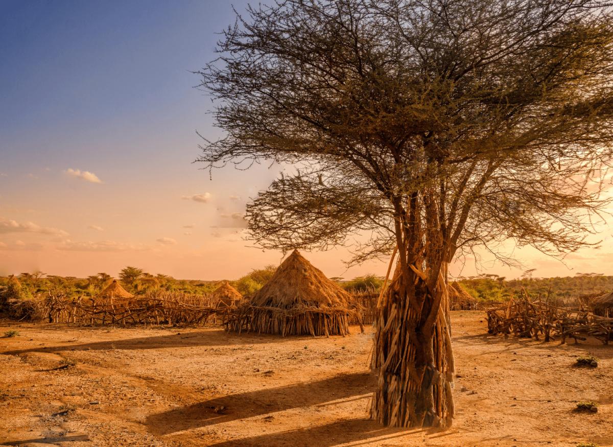 Village atypique et maison en paille Ethiopie