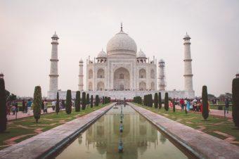 Taj Mahal au levé du soleil