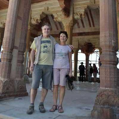 Touristes francais au Fatehpur Sikri près d'Agra