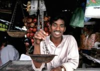 Commercant au Sri Lanka