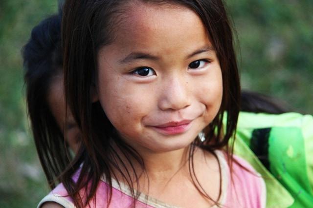 une fillette vietnamienne à can Tho