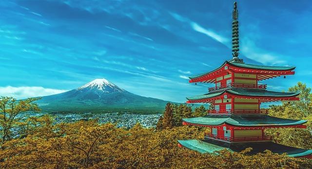 La vue sur le mont fuji au Japon