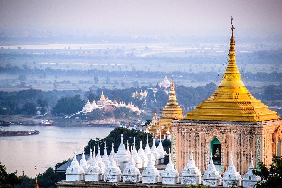 Site de Mandalay en Birmanie